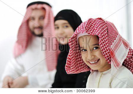 Arabic Muslim family