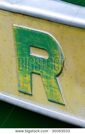 Letter R - Farm machine