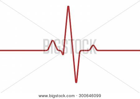 Heart Cardiogram Isolated On White Background. With Ecg Heart Pulse