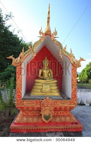 Buddha statue in Chiang Rai of Thailand poster