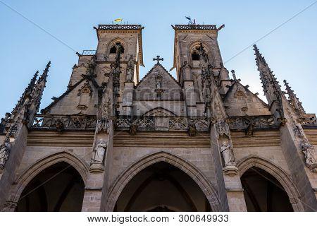 Ancient Monumental Church Of Semur En Auxois In France