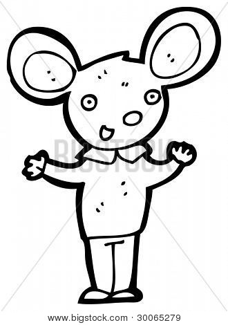 mouse wearing clothes cartoon poster