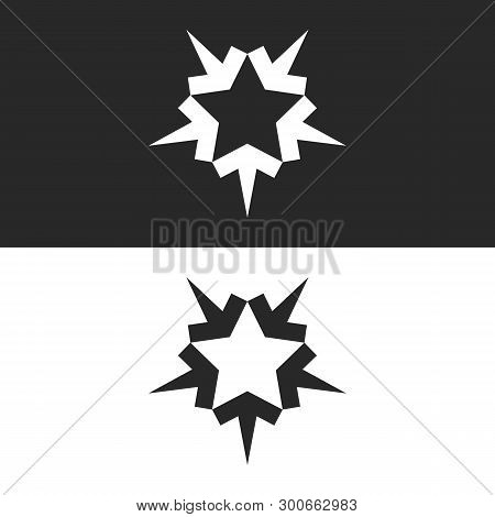Converging Five Arrows Logo Forming The Shape Of A Five-pointed Star, An Icon For The Teamwork Of Su