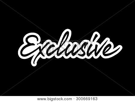 Exclusive Vector Lettering. Handwritten Text Label. Freehand Typography Design