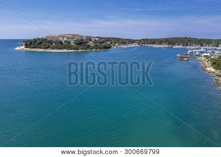Aerial Shot Of Verudela Lagoon In Pula, Croatia
