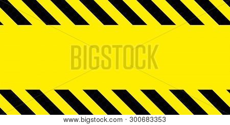 Yellow And Black Barricade Tape. Safety Stripes. Warning Stripes. Seamless Stripe. Frame For The Tex