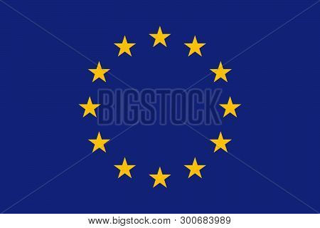 Flag Of European Union. Flag Of Eu. United Europe. Official Colors And Proportions. Vector Illustrat