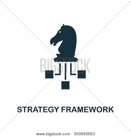 Strategy Framework Icon. Creative Element Design From Business Strategy Icons Collection. Pixel Perf