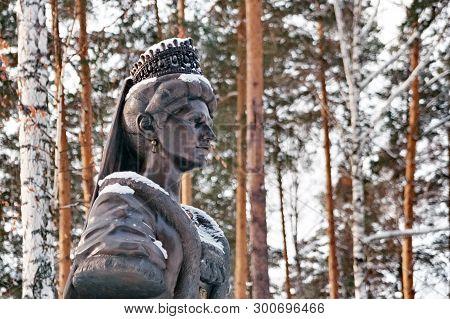 Ganina Yama,yekaterinburg,russia-03/01/2019:monument To The Holy Martyr Empress Alexandra Feodorovna