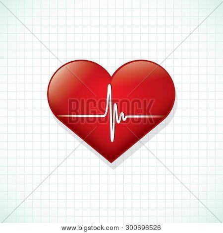 Heartbeat Ekg - Vector Illustration - Vector