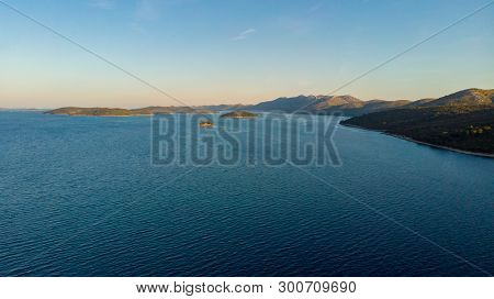 Spectacular Aerial Sea Landscape Of Many Small Islands.