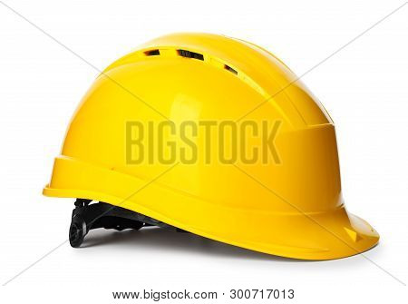 Safety Hardhat Isolated On White. Construction Tool