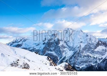Marmolada Glacier From Belvedere, Canazei, Italy