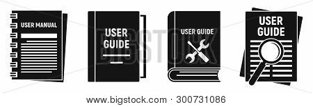 User Guide Instruction Icons Set. Simple Set Of User Guide Instruction Vector Icons For Web Design O