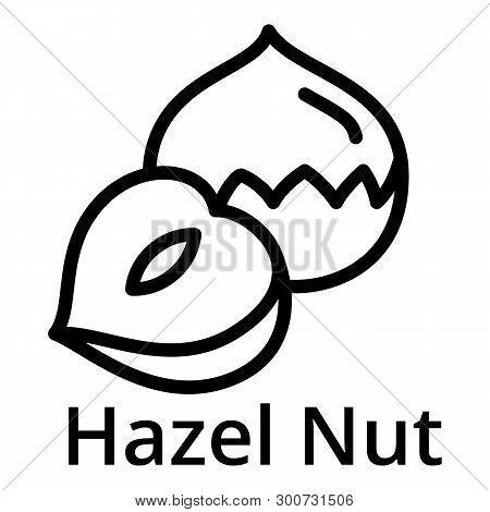 Hazel Nut Icon. Outline Hazel Nut Vector Icon For Web Design Isolated On White Background