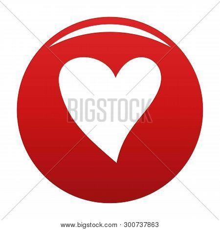 Cruel Heart Icon. Simple Illustration Of Cruel Heart Vector Icon For Any Design Red