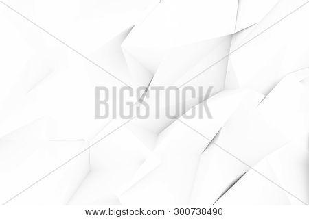 Gray Or Black And White B&w Decorative, Illustrations Cgi, Random Geometric Backdrop, For Design Tex
