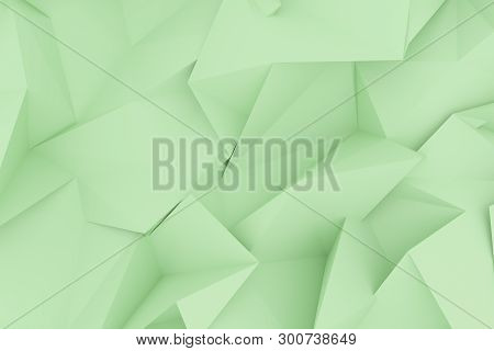 Abstract Cgi, Random Geometric Backdrop. Wallpaper For Graphic Design. 3D Render.