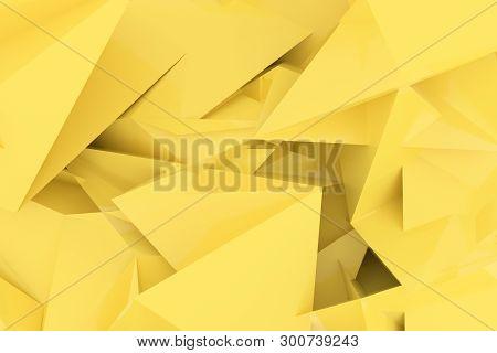 Random Geometric Backdrop. For Graphic Design Or Background, Cgi. 3D Render.