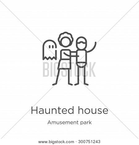 Haunted House Icon. Element Of Amusement Park Collection For Mobile Concept And Web Apps Icon. Outli