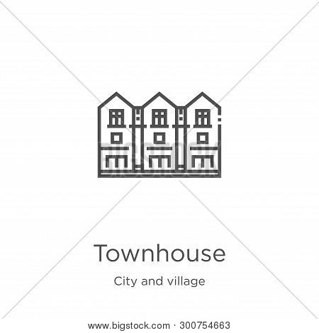 Townhouse Icon. Element Of City And Village Collection For Mobile Concept And Web Apps Icon. Outline
