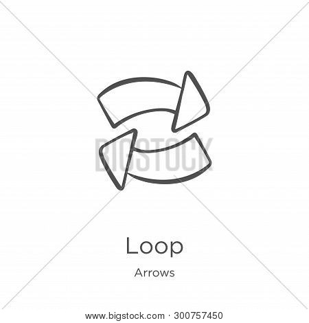 loop icon. Element of arrows collection for mobile concept and web apps icon. Outline, thin line loo