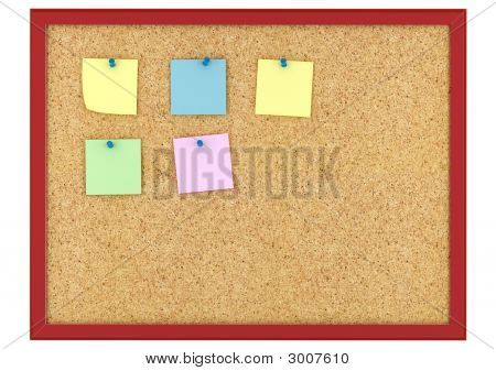 Cork Board With Note