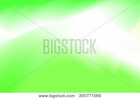 Blurred Green And White Pastel Colors Soft Wave Colorful Effect For Background Abstract, Illustratio