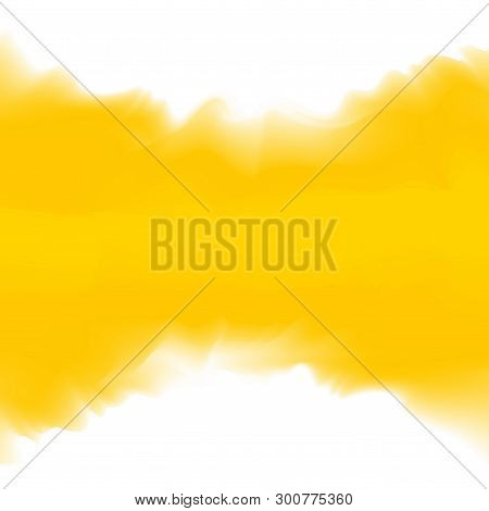Yellow Color Soft In Concept Water Color Art Style, Abstract Texture Yellow Colors Painting Art Brus
