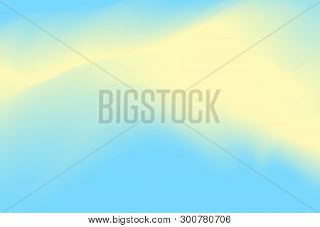 Blurred Blue And Yellow Pastel Colors Soft Wave Colorful Effect For Background Abstract, Illustratio
