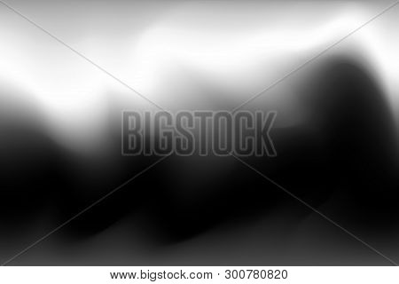 Blurred Grey And Black Water Color Soft Wave Colorful Effect For Background Abstract, Illustration G