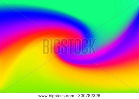 Blurred Green Blue And Pink Colors Twist Wave Colorful Effect For Background, Illustration Gradient