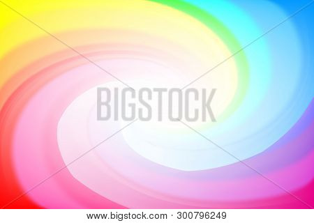 Blurred Rainbow Colors Twist Wave Colorful Effect For Background, Illustration Gradient In Water Col