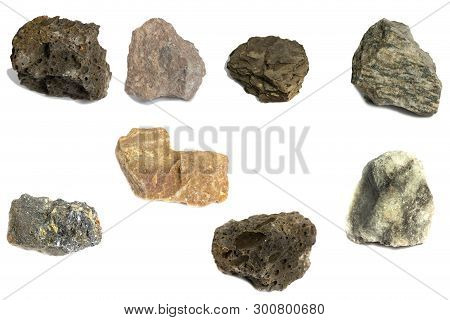 Various Stone For Industry Isolate On White Background
