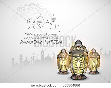 Illustration Of Ramadan Kareem Generous Ramadan Greetings For Islam Religious Festival Eid With Illu