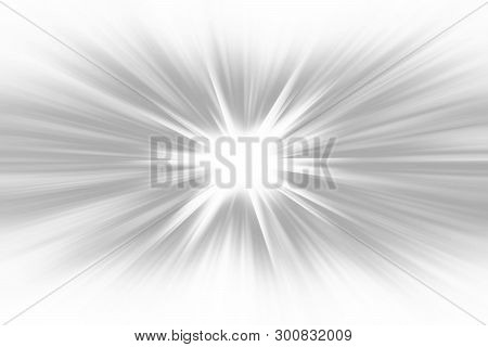 Gray Radial Radiant Banner Background Glowing Starburst, Nature Fresh Radial Abstract Design Card. G