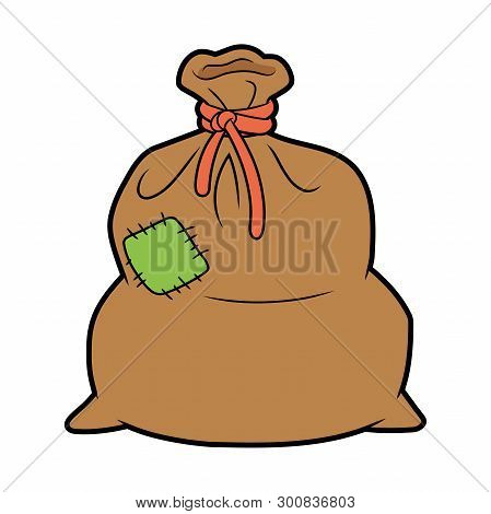 Illustration Of A Big Brown Sack On A White Background