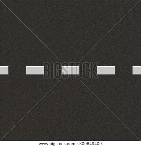Road Background With Asphalt Texture. Vector Illustration