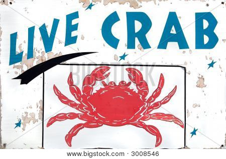 Live Crab Sign