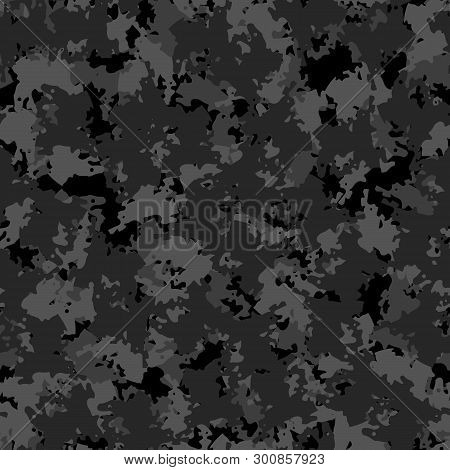 Urban Camouflage Of Various Shades Of Black And Grey Colors