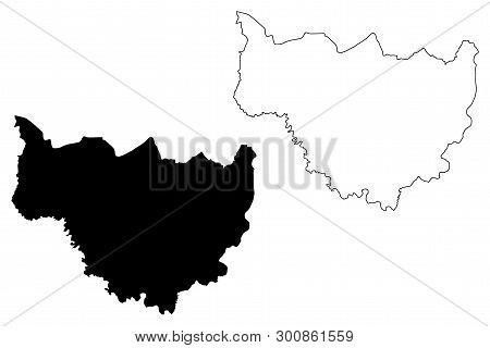 Cascades Region (regions Of Burkina Faso, Burkina Faso) Map Vector Illustration, Scribble Sketch Cas