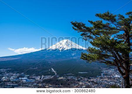 Mount Fuji View From Mt. Fuji Panorama Rope Way, Commonly Called Fuji San In Japanese, Mount Fuji's