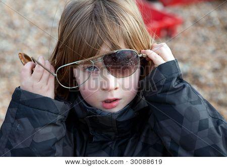 Child Sunglasses Broken Playing