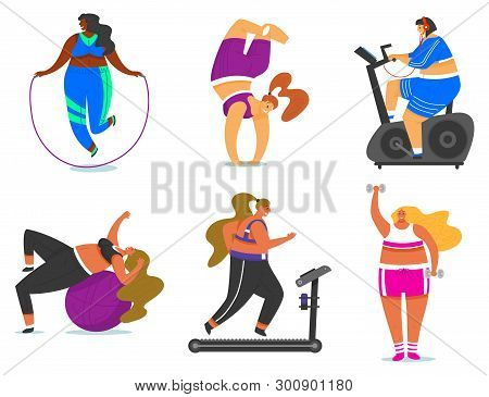 Fitness Girls Plus Vector & Photo (Free Trial) | Bigstock