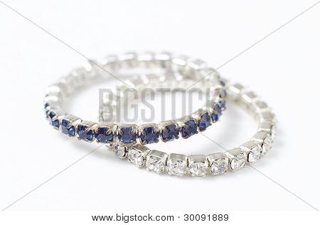 Diamond Rings Isolated