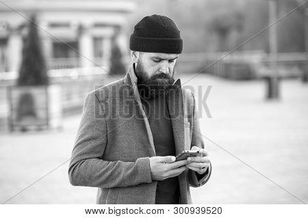 Fashion Man With Beard. Brutal Caucasian Hipster With Moustache. Bearded Man. Mature Hipster With Be