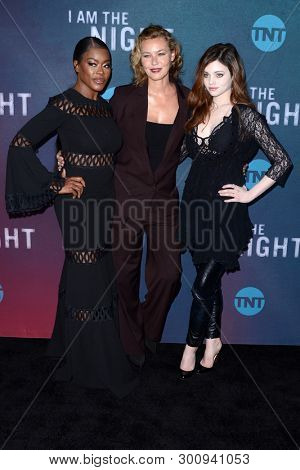 LOS ANGELES - MAY 9:  Golden Brooks, Connie Nielsen, India Eisley at the