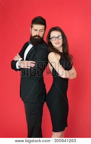 Formal Couple. Power Of Teamwork. Collaboration Is A Key To Success. Formal Couple Of Businesspeople