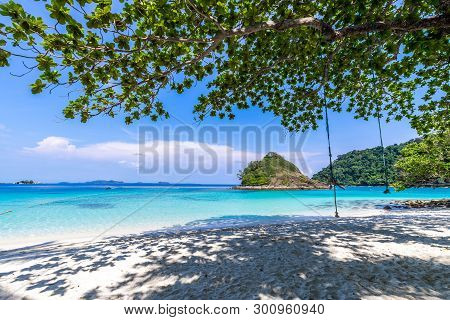 Beautiful Beach View Koh Chang Island Seascape At Trad Province Eastern Of Thailand On Blue Sky Back