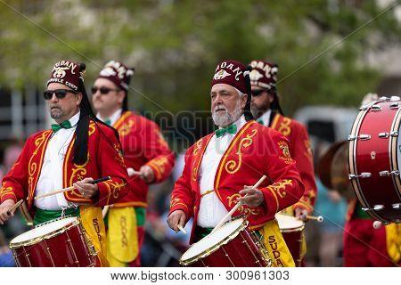 Wilmington, North Carolina, Usa - April 6, 2019: The North Carolina Azalea Festival, Members Of The